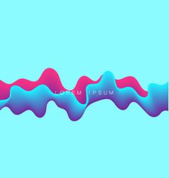 colorful wave dynamic flow background design vector image