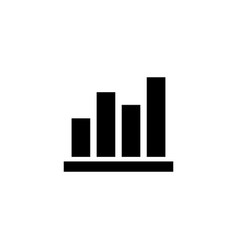 Columns graph flat icon vector