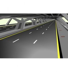 covered highway vector image