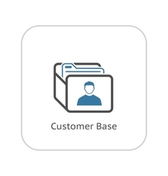 Customer Base Icon Business Concept Flat Design vector