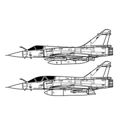 Dassault mirage 2000 vector
