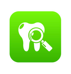 dental examination icon green vector image