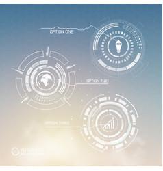 Digital virtual infographic template vector