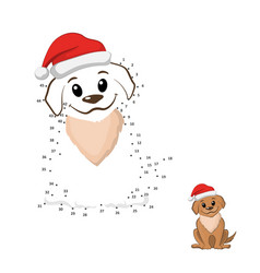 dot to game connect puzzle funny puppy vector image