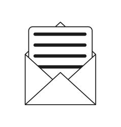 Envelope paper letter email outline vector