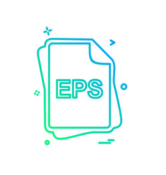 eps file type icon design vector image
