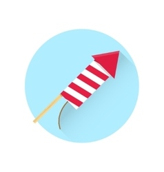 Firework red rocket icon vector image