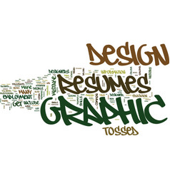 Graphic design resumes text background word cloud vector