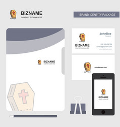 Grave business logo file cover visiting card and vector