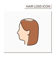 Hair loss color icon vector