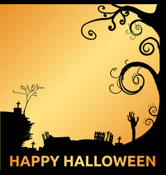 happy halloween vecotr 10 eps vector image