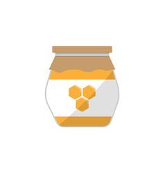 honey jar flat icon food drink elements vector image vector image