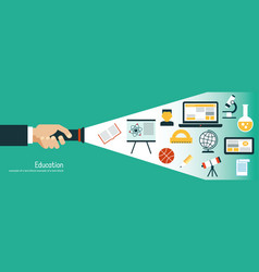 Infographics background education vector