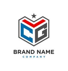 initial logo cg vector image
