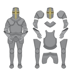 Knight armor Color vector