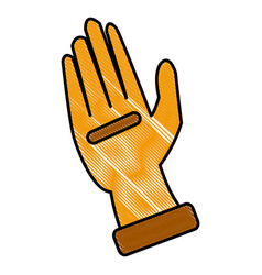 leather glove symbol vector image