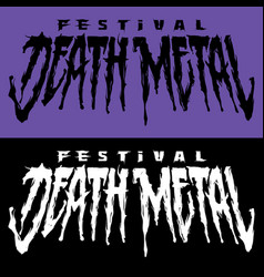 Lettering death metal vector