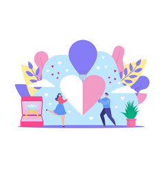 love dating concept cartoon vector image