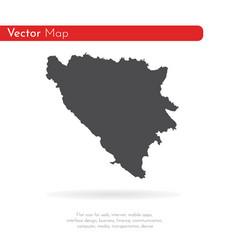 map bosnia and herzegovina isolated vector image