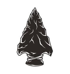 Native american flint arrowhead vintage concept vector