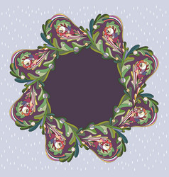oak leaves frame border floral leaf banner vector image