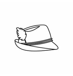 Oktoberfest tirol hat icon outline style vector image