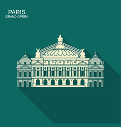 opera garnier paris france flat icon with vector image