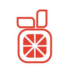 Orange juicy fruit vector