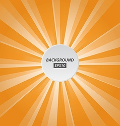 Orange rays background vector