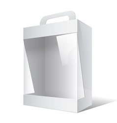 Package Cardboard Box with a handle vector