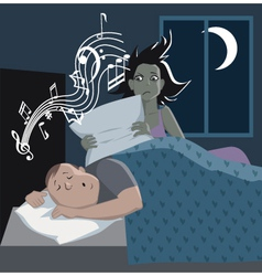 Problem with snoring vector image