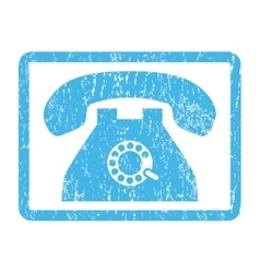 Pulse Phone Icon Rubber Stamp vector