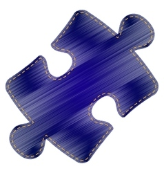 Puzzle piece sign vector image vector image