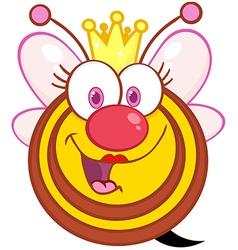 Queen Bee Cartoon Mascot Character vector