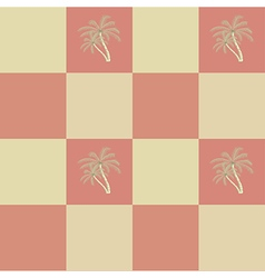 Retro seamless coconut palm trees pattern vector