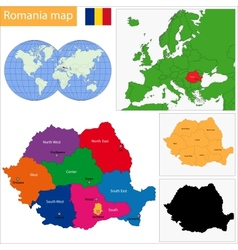 Romania map vector image