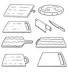 set of cutting board vector image