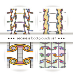 Set of seamless patterns like paper scrolls vector