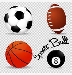 set realistic of balls vector image