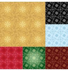 set - seamless geometrical patterns vector image