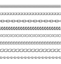 silver chains jewelry or metal links pattern vector image