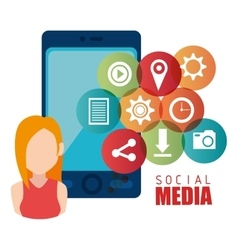 Social media and entertainment graphic design vector image