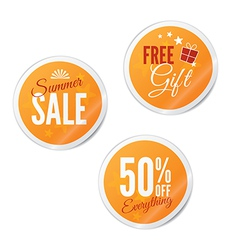 Summer sale retail stickers vector
