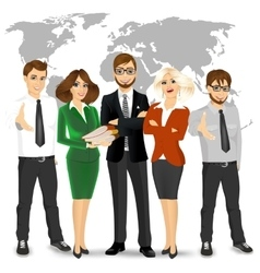 Team of successful businesspeople vector