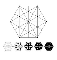 the intersection geometric lines vector image