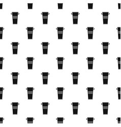 Trash can with handles pattern vector