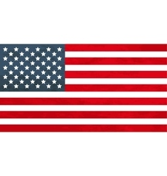 True proportions USA flag with texture vector