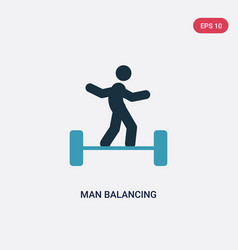 two color man balancing icon from sports concept vector image