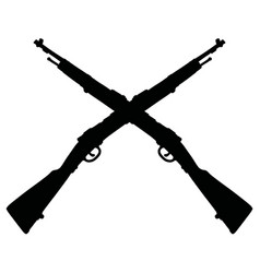 two old military rifles vector image