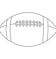 American football ball outline vector image